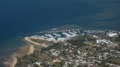 Photograph - Urangan Marina Aerial Photo by Gary Crockett
