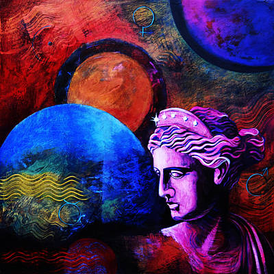 Blue Hues - Urania Muse of Astronomy by Stephen Humphries