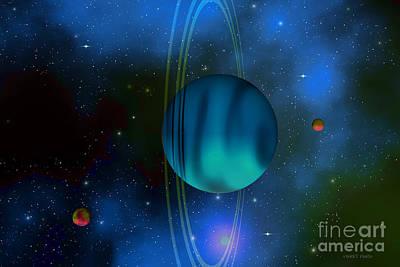 Uranus Digital Art - Uranus by Corey Ford