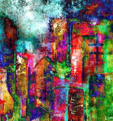 Mixed Media - Urban #8 by Kim Gauge