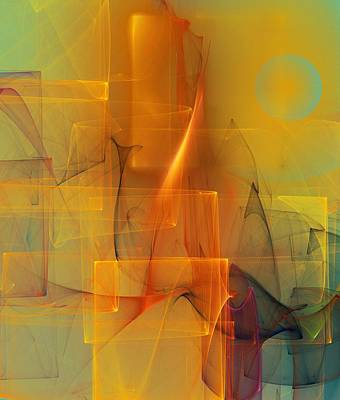 Digital Art - Urban  Abstract 062411 by David Lane