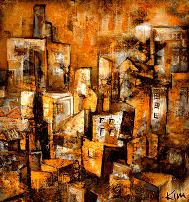 Mixed Media - Urban Abstract #1 by Kim Gauge