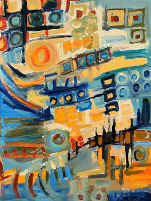 Urban Abstract Art Print by Maggis Art
