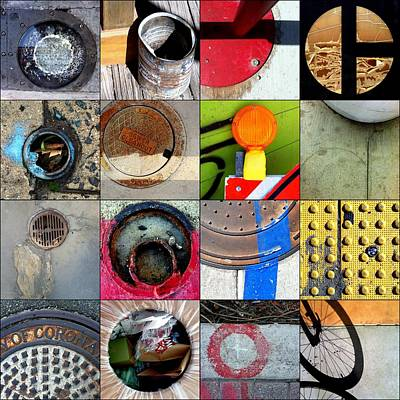 Photograph - Urban Abstracts Circles by Marlene Burns
