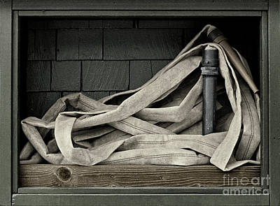 Photograph - urban antique - Fire Hose by Sharon Hudson