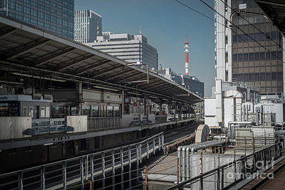 Photograph - Urban Architecture, Tokyo Japan by Perry Rodriguez