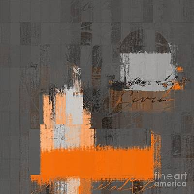 Digital Art - Urban Artan - S0111 - Orange by Variance Collections