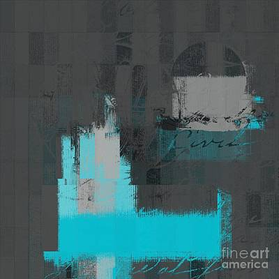 Digital Art - Urban Artan - S0111-turquoise by Variance Collections