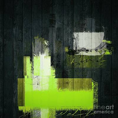 Abstract Shapes Digital Art - Urban Artan - S0112 - Green by Variance Collections