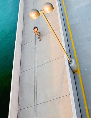 Photograph - Urban Bicylce Path by Todd Klassy