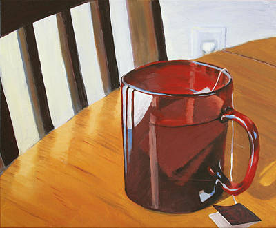 Painting - Urban Cafe Sun And Tea by Trina Teele