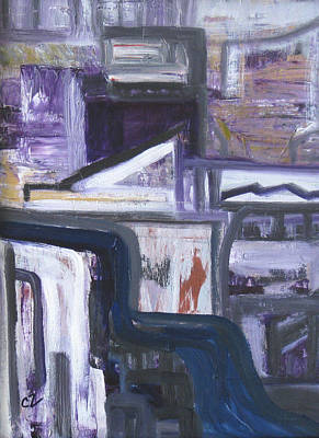 Painting - Urban Canyon by Carolyn Zaroff