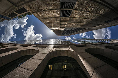 Photograph - Urban Canyon Sunburst by Van Sutherland
