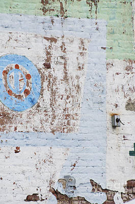 Americana Licensing Mixed Media - Urban Chipping Wall In Blue And Mint by WALL ART and HOME DECOR
