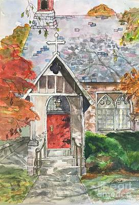 Painting - Urban  Church Sketching by Lucia Grilletto