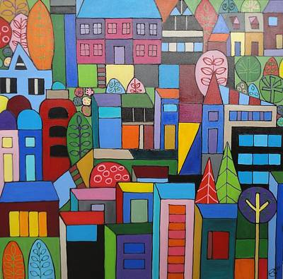 Painting - Urban Cityscape 1 by Elizabeth Langreiter