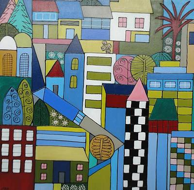 Painting - Urban Cityscape by Elizabeth Langreiter