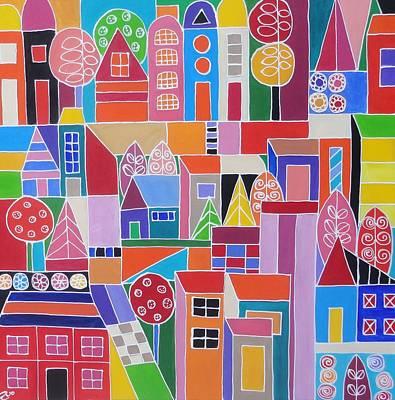 Painting - Urban Cityscape II by Elizabeth Langreiter