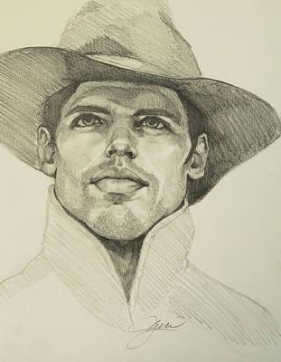 Drawing - Urban Cowboy by Jani Freimann