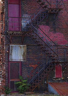 Photograph - Urban Decay - Angles And Color by Ron Grafe