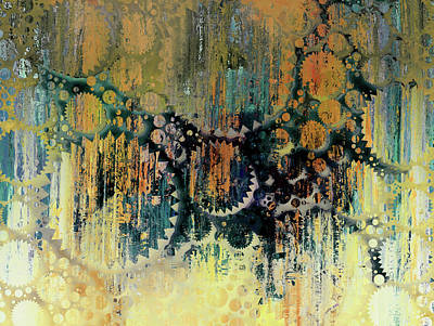 Mixed Media - Urban Drip Decorative Abstract Grunge by Georgiana Romanovna