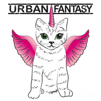 Urban Fantasy Cat Art Print