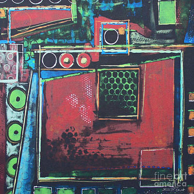 Drip Painting - Urban Glance by Steven R Plout