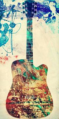 Painting - Urban Guitar by Mark Taylor