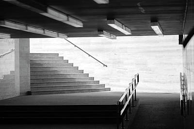 Photograph - Urban Hallway In Black And White by Vlad Baciu