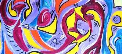 Alfredo Llana Painting - Urban Hunt by Alfredo Dane Llana