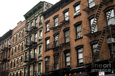 Nyc Fire Escapes Photograph - Urban Jungle Liiving by John Rizzuto