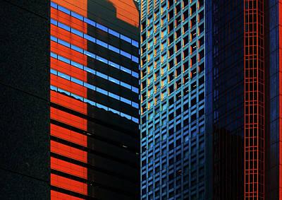 Photograph - Urban kaleidoscope Red 1 by Shoji Fujita