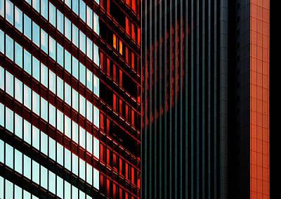 Photograph - Urban kaleidoscope Red 2 by Shoji Fujita