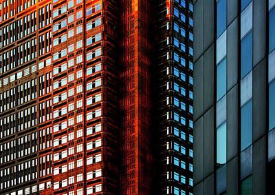 Photograph - Urban kaleidoscope Red 3 by Shoji Fujita