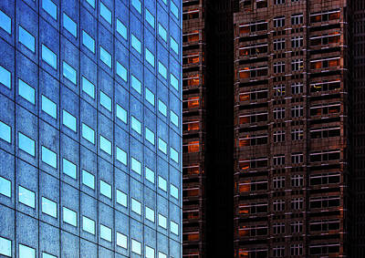 Photograph - Urban Kaleidoscope Red 4 by Shoji Fujita