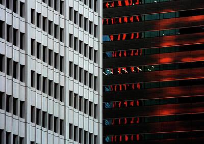 Photograph - Urban kaleidoscope Red 5 by Shoji Fujita