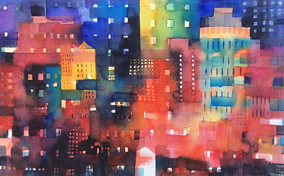 Painting - urban landscape 8 - Shadows and lights by Alessandro Andreuccetti