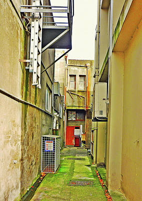Urban Landscape-blind Alley Art Print by Kenneth William Caleno