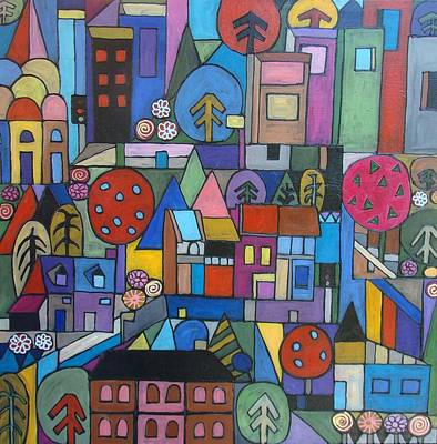 Painting - Urban Landscape by Elizabeth Langreiter