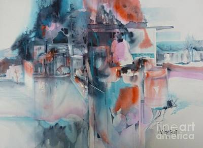 Painting - Urban Layers by Donna Acheson-Juillet