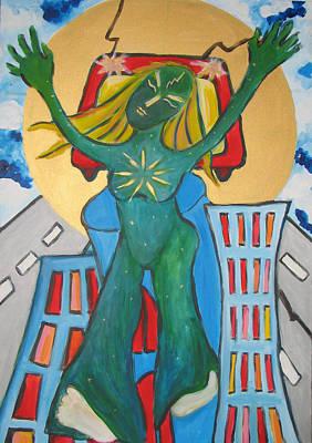 Painting - Urban Legends Ny by Krisztina Asztalos