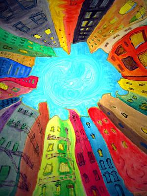 Painting - Urban Mandala 2 Detail by Raul Morales