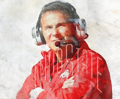 Football Paintings - Urban Meyer by Dan Sproul