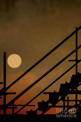 Photograph - Urban Moon by Benjamin Harte