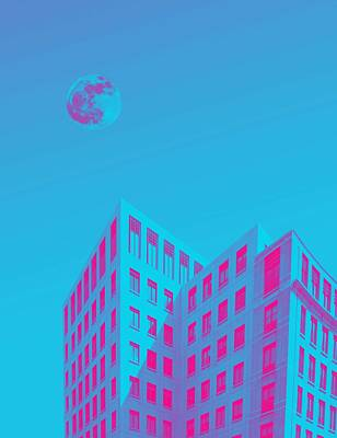 Abstract Skyline Rights Managed Images - Urban Moon by Adam Asar  5 Royalty-Free Image by Adam Asar  5
