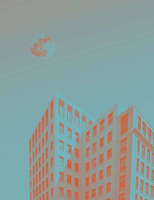 Abstract Skyline Rights Managed Images - Urban Moon by Adam Asar 6 Royalty-Free Image by Celestial Images