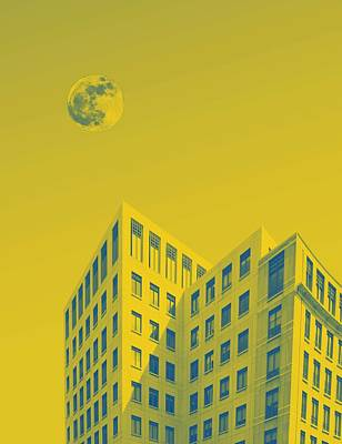 Abstract Skyline Rights Managed Images - Urban Moon by Adam Asar 7 Royalty-Free Image by Adam Asar 7