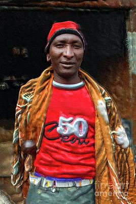 Maasai Urban Moran Art Print by Morris Keyonzo