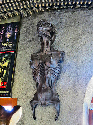 Solo Exhibition Photograph - Urban Motifs. Giger Bar. by Andy Za