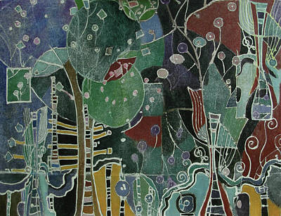 Subterranean Painting - Urban Paradisi by Lory MacDonald